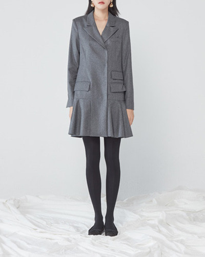 JO5 simple jacket dress  grey