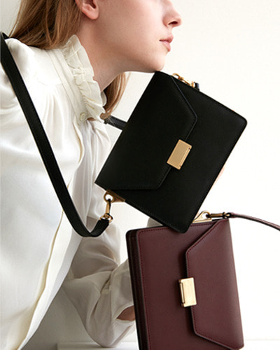 DEMERIEL clever bag mini  black / beige / bordeaux