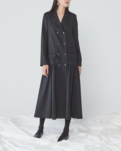 JO5 boy long jacket dress black