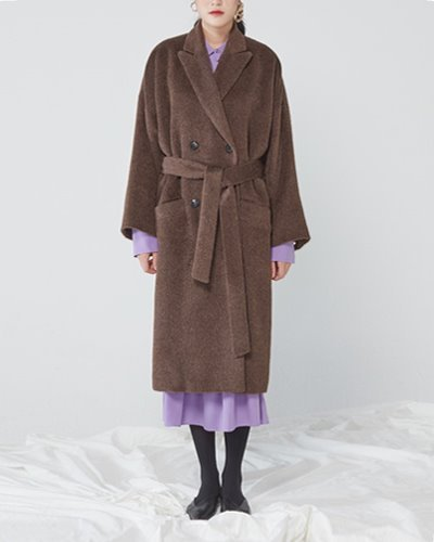 JO5 classic gown coat brown