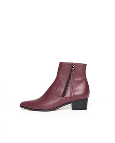 LANE.910 lh1-sb005 pointed zip boots dark red